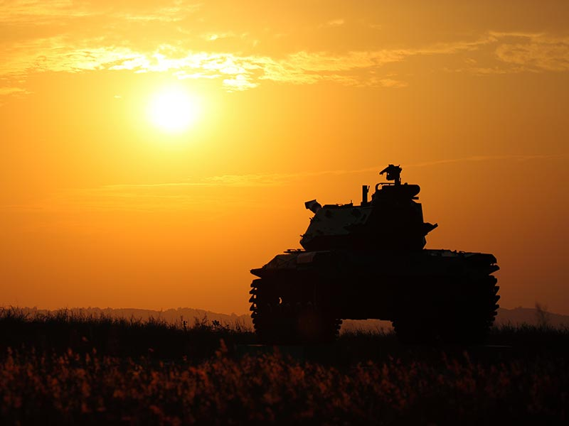 Tank and Sunset